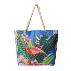BAGK206 TROPICAL BEACH BAG BLUE