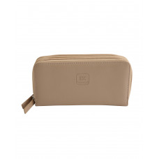 PURF064KH BEIGE PU LEATHER 2 ZIP WALLET