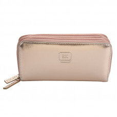PURF064RG ROSE GOLD PU LEATHER 2 ZIP WALLET