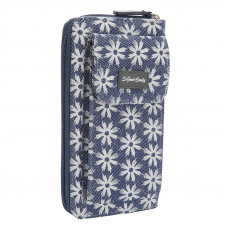 PURK845 DAISY BLUE CANVAS MOBILE WALLET
