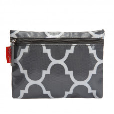PURK847  MOROCCAN GREY OILSKIN COIN PURSE