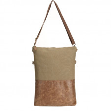 BAGE011BR  BROWN CROSS BODY FOLD BAG