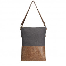 BAGE011DGY DARK GREY CROSS BODY FOLD BAG