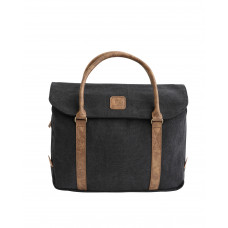 BAGE001BL BLACK CANVAS LAPTOP BAG