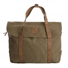 BAGE001BR BROWN CANVAS LAPTOP BAG