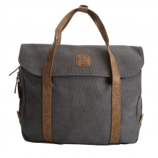 BAGE001DGY DARK GREY CANVAS LAPTOP BAG