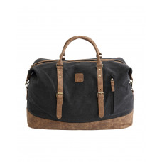 BAGE004BL BLACK CANVAS TRAVEL BAG