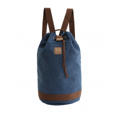 BAGE005DB DARK BLUE CANVAS BARREL BAG