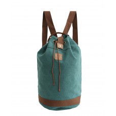 BAGE005TE TEAL CANVAS BARREL BAG