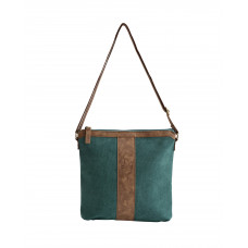 BAGE007TE TEAL CANVAS SMALL MESSENGER BAG