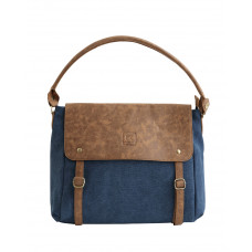 BAGE009DB DARK BLUE CANVAS MESSENGER SLOUCH BAG