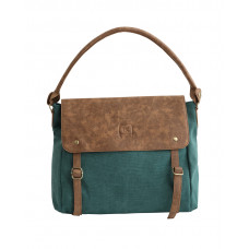 BAGE009TE TEAL CANVAS MESSENGER SLOUCH BAG