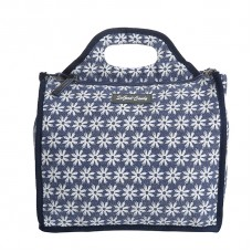 BAGK154 BLUE DAISY CANVAS NAPPY/UTILITY BAG