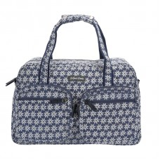 BAGK150 DAISY BLUE CANVAS WEEKENDER
